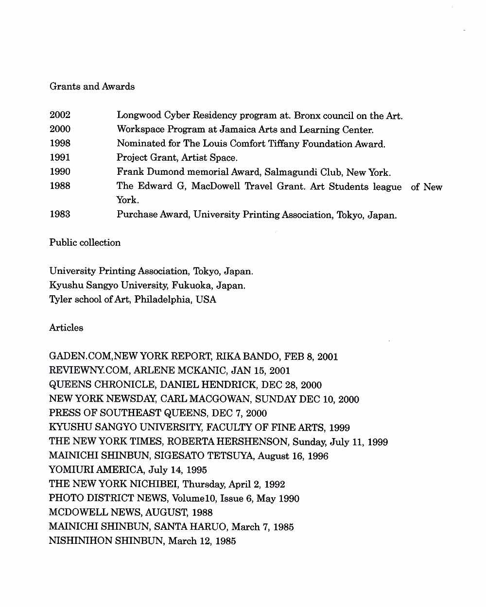 Kenta Furusho's Resume, pg 2